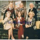 BETTY WHITE TED KNIGHT ED ASNER GAVIN + SIGNED RP PHOTO