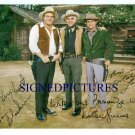 BONANZA CAST SIGNED AUTOGRAPHED RP PROMO PHOTO ALL 3