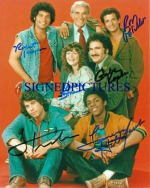WELCOME BACK KOTTER 6 CAST SIGNED RP PHOTO GABE KAPLAN ROBERT HEGYES TRAVOLTA +
