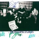 U2 BAND GROUP SIGNED AUTOGRAPHED RP PHOTO BONO EDGE +