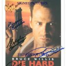 DIE HARD CAST SIGNED AUTOGRAPHED RP PHOTO BRUCE WILLIS