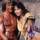 BEASTMASTER SIGNED AUTOGRAPHED RP PHOTO MARC SINGER AND TANYA ROBERTS