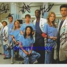 GREYS ANATOMY CAST 9 SIGNED AUTOGRAPHED RP PHOTO GRAYS