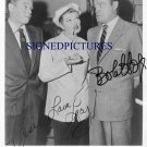 LUCILLE BALL DESI ARNAZ AND BOB HOPE SIGNED RP PHOTO