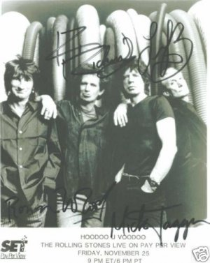 THE ROLLING STONES SIGNED AUTOGRAPHED RP PHOTO BY ALL