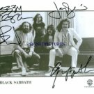 BLACK SABBATH GROUP SIGNED AUTOGRAPHED RP PHOTO OZZY +
