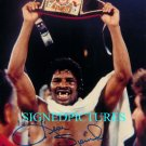 LEON SPINKS SIGNED AUTOGRAPHED RP PHOTO CHAMP with BELT