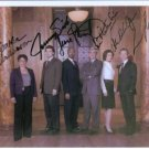 LAW AND ORDER CAST SIGNED AUTOGRAPHED 8x10 RP PHOTO BY 6 NEW CAST SAM WATERSON ALANA DE LA GARZA +