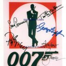 JAMES BOND 007 ALL 5 AUTOGRAPHED RP PHOTO CONNERY LAZENBY MOORE DALTON & BROSNAN