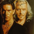 ANTONIO BANDERAS AND ANTHONY HOPKINS SIGNED RP PHOTO
