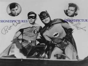 BATMAN ROBIN ADAM WEST BURT WARD SIGNED RP PROMO PHOTO