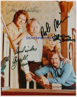 ALL IN THE FAMILY FULL CAST SIGNED AUTOGRAPHED RP PHOTO
