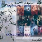 LORD OF THE RINGS 12 CAST SIGNED RP PHOTO BLOOM TYLER +