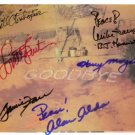 MASH CAST 6 SIGNED AUTOGRAPHED RP PHOTO LAST EPISODE