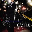 CASTLE CAST SIGNED AUTOGRAMME 8x10 RP PHOTO STANA KATIC NATHAN FILLION