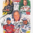 JEFF GORDON DALE EARNHARDT J MARK MARTIN JIMMIE JOHNSON HENDRICK SIGNED RP PHOTO