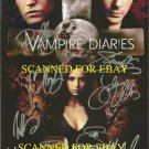 THE VAMPIRE DIARIES CAST SIGNED RP PHOTO BY 8 DOBREV +