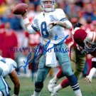 TROY AIKMAN AUTOGRAPHED 8x10 RP PHOTO DALLAS COWBOYS QB