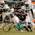 RONNIE BROWN AUTOGRAPHED 8x10 RP PHOTO MIAMI DOLPHINS RB