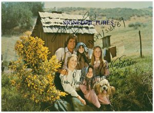 THE LITTLE HOUSE ON THE PRAIRIE 6 CAST AUTOGRAPHED RP PHOTO MICHAEL LANDON +
