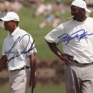 MICHAEL JORDAN AND TIGER WOODS SIGNED AUTOGRAPHED 8X10 RP FRAMED PHOTO LEGENDS