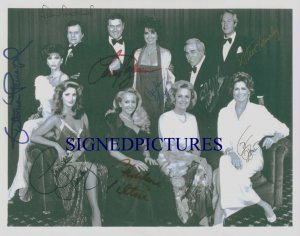 DALLAS CAST SIGNED RP PHOTO BY 9 HAGMAN PRESLEY TILTON