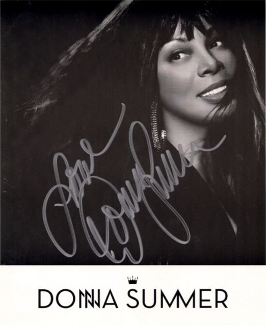 Gorgeous Autograph Signed 8x10 Photo: DONNA SUMMER AUTOGRAPHED 8x10 RP PHOTO BEAUTIFUL DISCO QUEEN