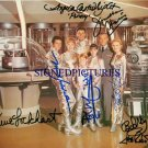 LOST IN SPACE TV CAST AUTOGRAPHED RP 8x10 PHOTO BY ALL 7 LOCKHART GODDARD MUMY +