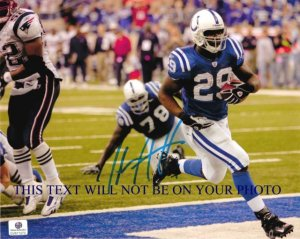 JOSEPH ADDAI AUTOGRAPHED 8x10 RP PHOTO INDI COLTS INCREDIBLE ATHLETE