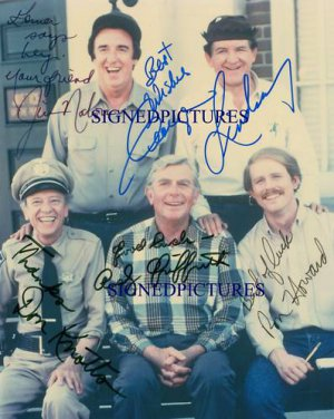 THE ANDY GRIFFITH SHOW AUTOGRAPHED 8x10 RP PHOTO LINDSEY DON KNOTTS JIM NABORS +