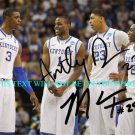 ANTHONY DAVIS AND MARQUIS TEAGUE AUTOGRAPHED 8x10 RP PHOTO KY NATIONAL CHAMPS