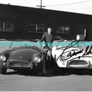 CARROLL SHELBY AUTOGRAPHED 8x10 RP PHOTO WITH COBRAS  CLASSIC