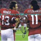 KURT WARNER AND LARRY FITZGERALD SIGNED AUTOGRAPHED 8x10 RP PHOTO ARIZONA CARDINALS