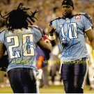 CHRIS JOHNSON AND VINCE YOUNG AUTOGRAPHED 8x10 RP PHOTO TENNESSEE TITANS