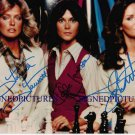 CHARLIES ANGELS CAST AUTOGRAPHED 8x10 RP PHOTO FARRAH FAWCETT +