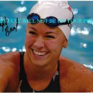 ELIZABETH BEISEL AUTOGRAPHED 8x10 RP PHOTO OLYMPICS SWIMMING COMPETITOR 2012