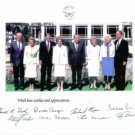 US PRESIDENTS AND FIRST LADIES AUTOGRAPHED 8x10 RP PHOTO BUSH FORD NIXON REAGAN