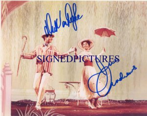 MARY POPPINS AUTOGRAPHED 8x10 RP PHOTO JULIE ANDREWS AND DICK VAN DYKE
