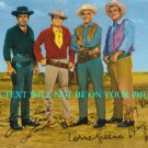 BONANZA CAST AUTOGRAPHED 6x9 RP PROMO PHOTO ALL 4 GREENE BLOCKER LANDON ROBERTS