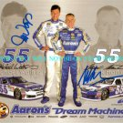 MICHAEL WALTRIP AND MARK MARTIN AUTOGRAPHED 8x10 RP PHOTO