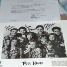 FULL HOUSE CAST AUTOGRAPHED 8X10 RP STUDIO PROMO PHOTO w LETTER