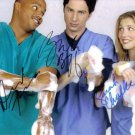 SCRUBBS CAST AUTOGRAPHED 8x10 RP PHOTO COMEDY ALL 3