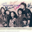ROSEANNE CAST ALL 6 AUTOGRAPHED 8X10 RP PHOTO ROSANNE
