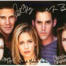 BUFFY THE VAMPIRE SLAYER CAST SIGNED AUTOGRAPHED 8X10 RP PHOTO BY ALL GELLAR BOREANAZ +