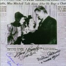 GONE WITH THE WIND CAST AUTOGRAPHED 6x9 RP PHOTO BY 5 GWTW HAVILLAND BROOKS KING