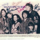 ROSEANNE CAST ALL 6 AUTOGRAPHED 8X10 RP PHOTO ROSANNE GOODMAN GILBERT METCALF +