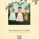 PETTICOAT JUNCTION CAST AUTOGRAPHED 8x10 RP PHOTO BETTY BOBBIE & BILLIE JO