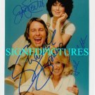 THREES COMPANY CAST SIGNED AUTOGRAPHED 8x10 RP PHOTO 3s JOHN RITTER SOMERS DEWITT