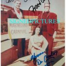 THE MUNSTERS CAST SIGNED AUTOGRAPHED 8x10 RP PHOTO BY ALL 3 FRED GWYNNE DECARLO LEWIS
