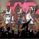 MIAMI HEAT TEAM LEBRON JAMES CHRIS BOSH AND DWAYNE WADE SIGNED 8x10 RP PHOTO